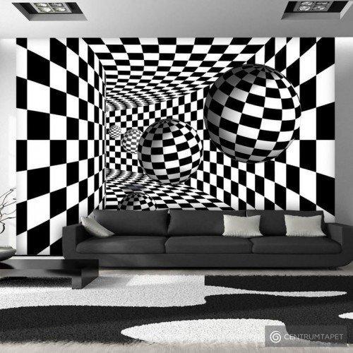 Fototapeta Czarno-biały korytarz a-A-0204-a-b