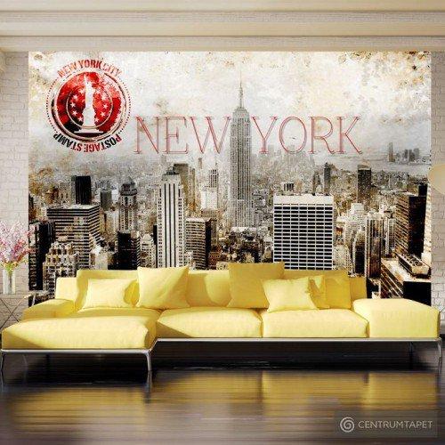Fototapeta New York - POST AGE STAMP 10110904-57