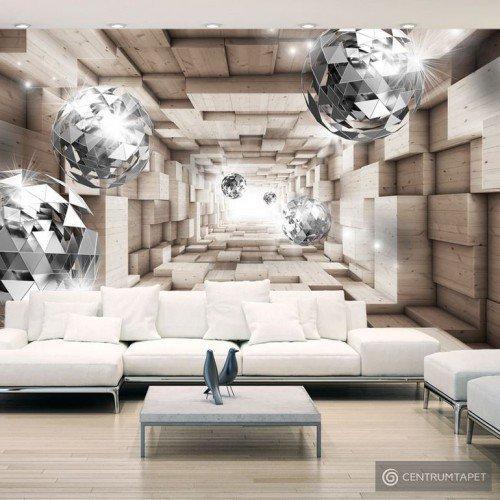 Fototapeta W drewnianym tunelu a-A-0155-a-b