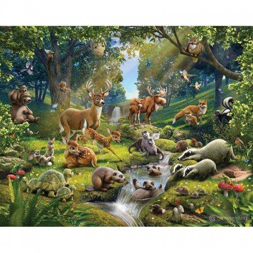 Fototapeta dla dzieci Zwierzęta w lesie 43060