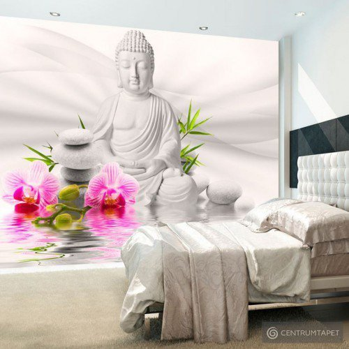 Fototapeta Budda i orchidee b-A-0011-a-b