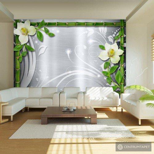 Fototapeta Bambus i dwie orchidee 10110905-125
