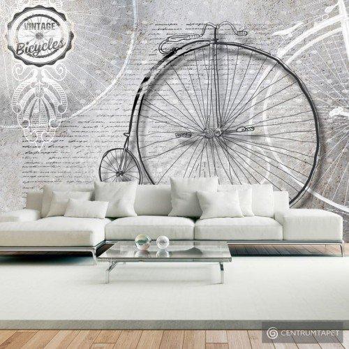Fototapeta Vintage bicycles black and white 10110905-122