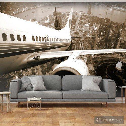 Fototapeta 100407-10 Samolot wzbijający się w powietrze