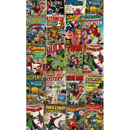 Fototapeta Marvel Cover Retro VD-006