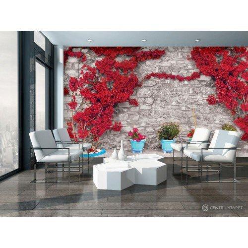 Fototapeta 3580 Mur z kwiatami