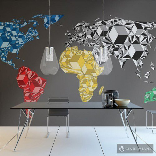 Fototapeta 10040910-54 Map of the World - colorful solids