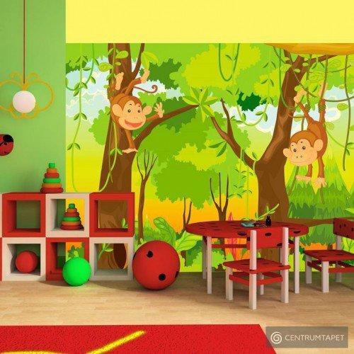 Fototapeta 100402-5 dżungla – małpy