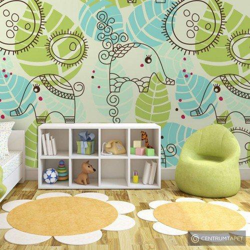 Fototapeta 100402-9 Słonie (dla dzieci)