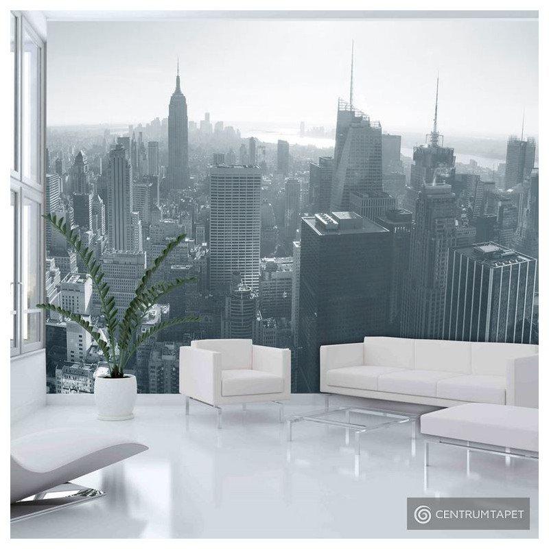 Fototapeta 100404-5 Czarno-biała panorama Nowego Jorku