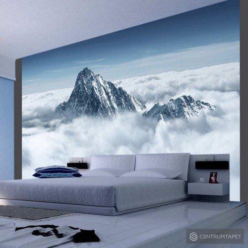 Fototapeta 100403-96 Górski szczyt w chmurach