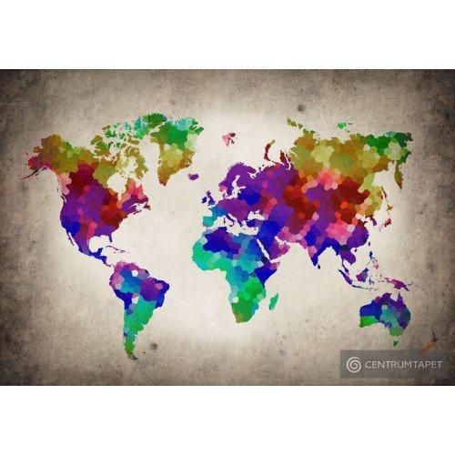 Fototapeta 10009 Młodzieżowa mapa świata