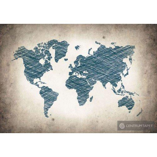 Fototapeta 10010 Młodzieżowa mapa świata
