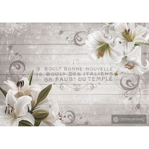 Fototapeta 10050 Białe lilie na deskach