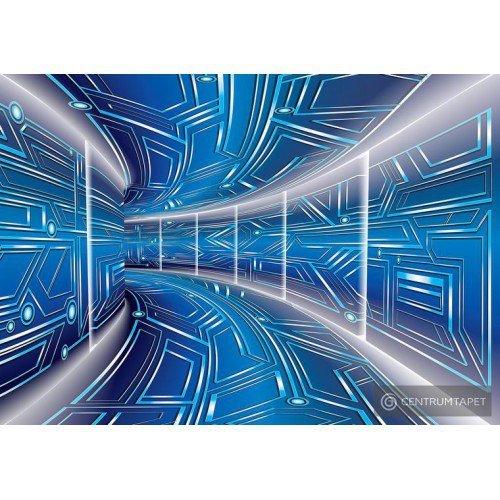 Fototapeta 10073 Niebieski tunel 3D