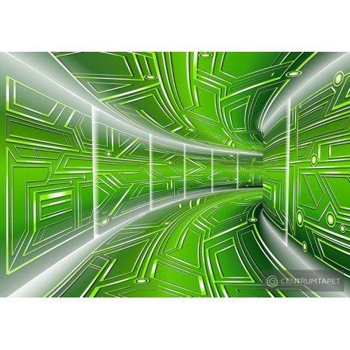 Fototapeta 10074 Zielony tunel 3D