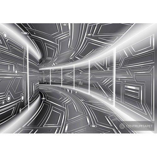 Fototapeta 10080 Szary tunel 3D