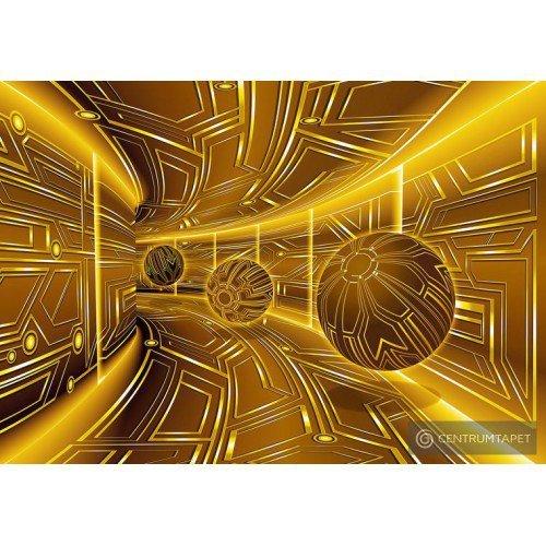 Fototapeta 10081 Złoty tunel 3D
