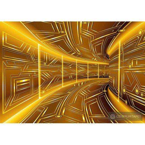 Fototapeta 10082 Złoty tunel 3D
