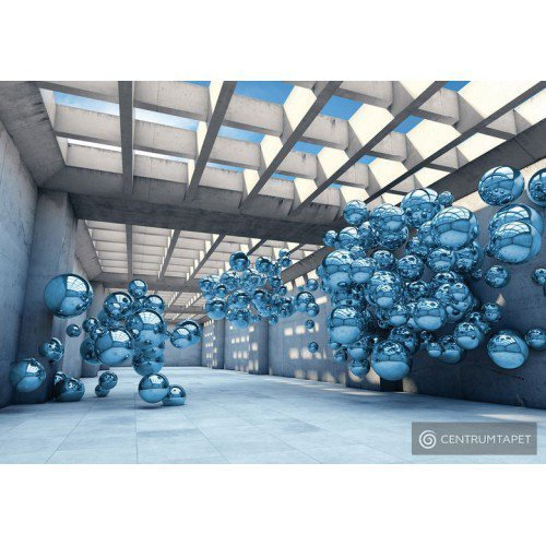Fototapeta 10134 Korytarz z niebieskimi kulami