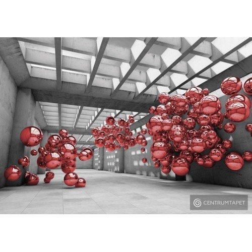 Fototapeta 10135 Korytarz z czerwonymi kulami