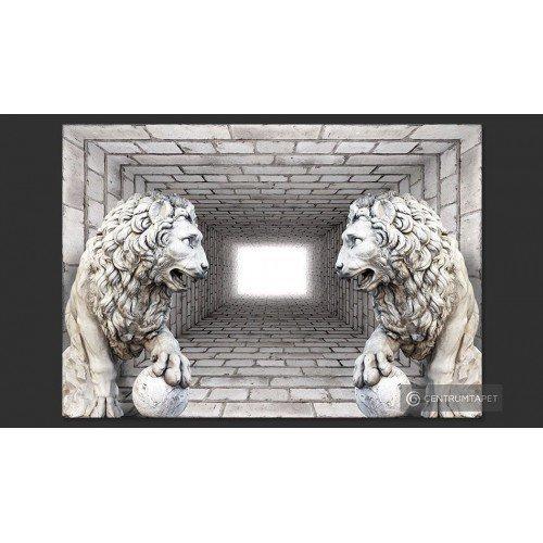 Fototapeta Kamienne lwy...