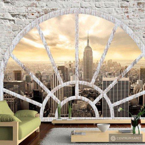 Fototapeta NY - Miasto o poranku d-A-0043-a-b