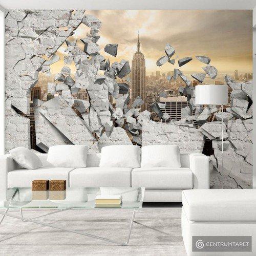 Fototapeta NY - Miasto za ścianą d-A-0045-a-b