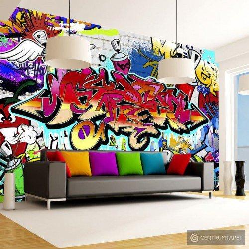 Fototapeta Street art: czerwony motyw f-A-0018-a-b