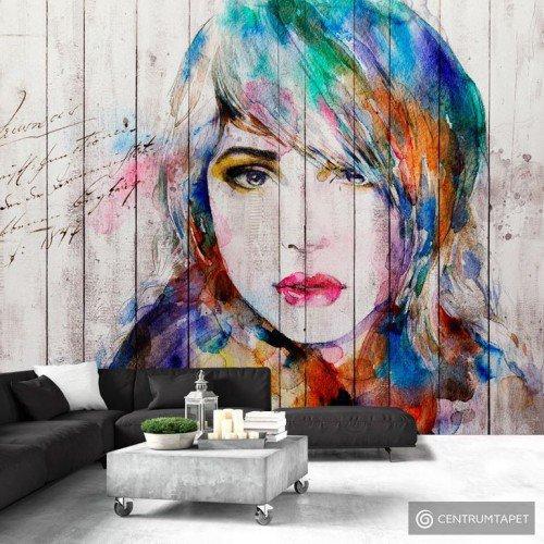 Fototapeta Portret na drewnie h-B-0017-a-b
