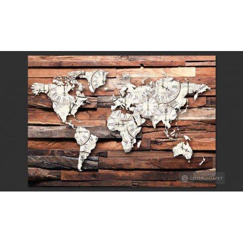Fototapeta Mapa na drewnie...