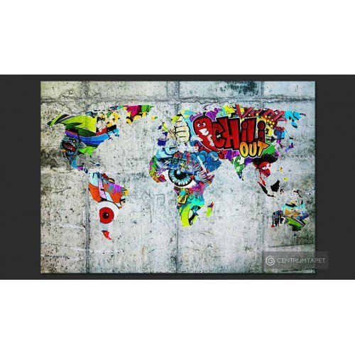 Fototapeta Mapa - Graffiti...