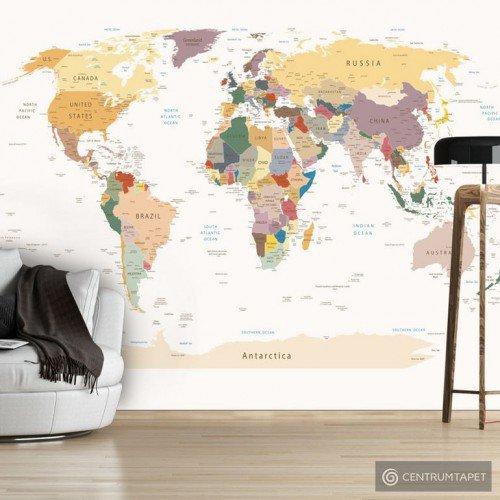 Fototapeta Mapa świata k-B-0001-a-b