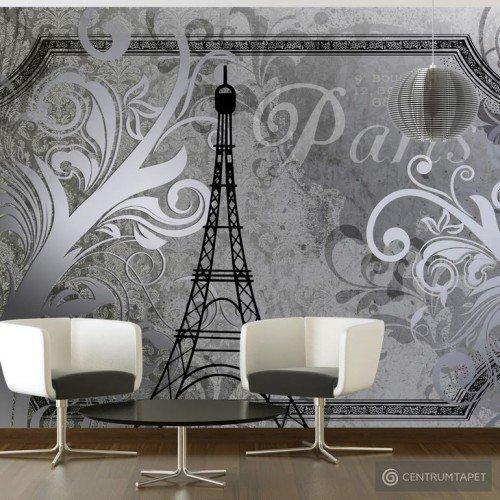 Fototapeta Vintage Paris - srebrny 10110905-77