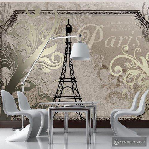 Fototapeta Vintage Paris - złoty 10110905-78