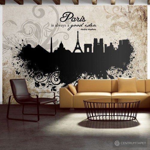 Fototapeta Paris is always a good idea - vintage 10110905-80