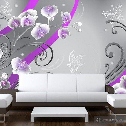 Fototapeta Purpurowe orchidee - wariacja 10110906-26