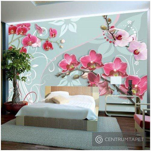 Fototapeta Różowe orchidee - wariacja II 10110906-31