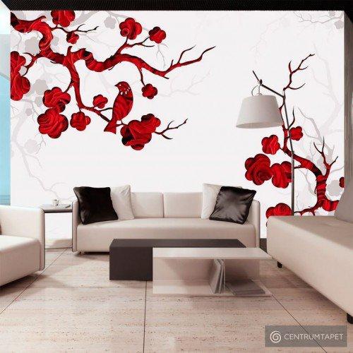 Fototapeta Czerwony krzew 10110906-69