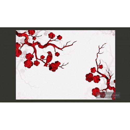 Fototapeta Czerwony krzew...