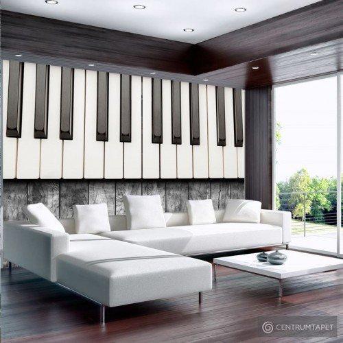 Fototapeta Zainspirowane Chopinem - szare drewno 10110907-13