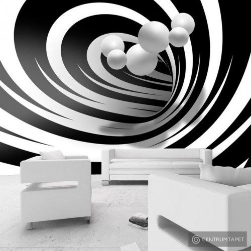 Fototapeta Zakręceni w bieli i czerni a-A-0161-a-a
