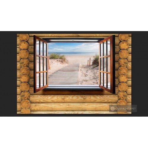 Fototapeta Plaża za oknem...