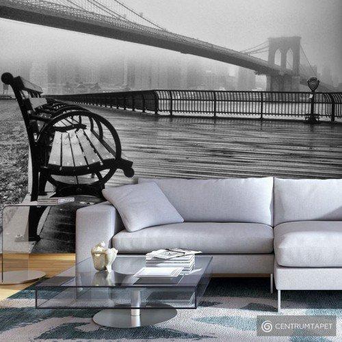 Fototapeta A Foggy Day on the Brooklyn Bridge c-B-0041-a-a