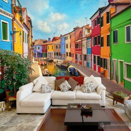 Fototapeta Kolorowy kanał w Burano d-B-0027-a-a
