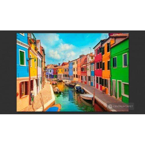 Fototapeta Kolorowy kanał w...