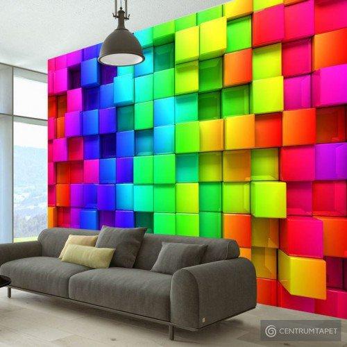 Fototapeta Sześcian pełen koloru f-A-0350-a-a