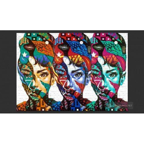 Fototapeta Kolorowe twarze...