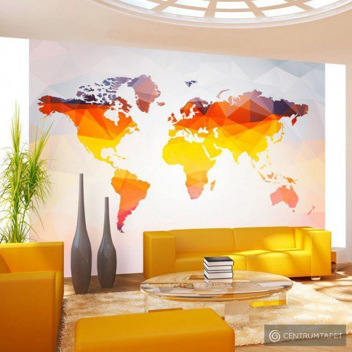 Fototapeta Mapa świata - Pokryte rdzą k-A-0001-a-a