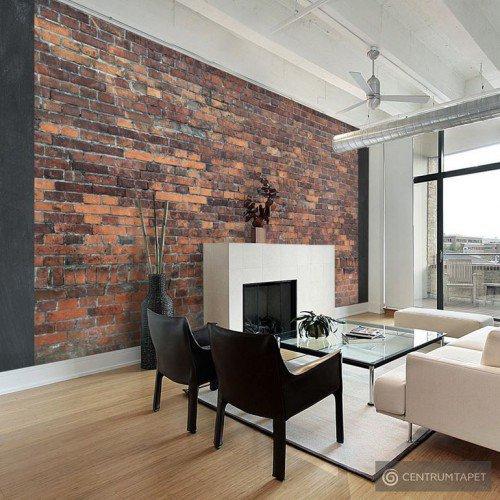 Fototapeta Vintage Wall (Red Brick) f-A-0433-a-a